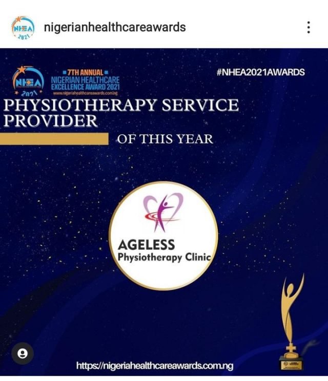 WE WON THE NHEA AWARD 2021: Physiotherapy Service Provider of The Year, 2021.